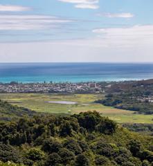 Honolulu coastline from Nu'uanu Pali lookout