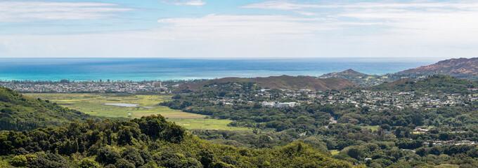 view from Nu'uanu Pali Lookout, O'ahu, Hawaii