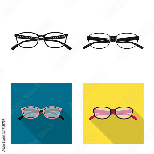 30b666ca1099 Vector illustration of glasses and frame sign. Collection of glasses and  accessory stock vector illustration.