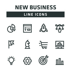 NEW BUSINESS LINE ICONS