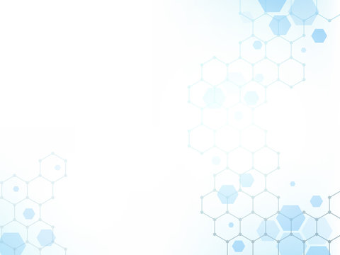 Geometric abstract hexagon technology background.