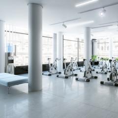 Ergometer im Fitness-Zentrum - 3d Visualisierung