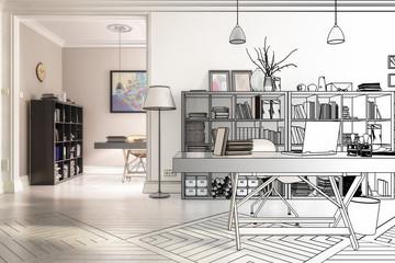 Neugestaltung im Büro (Zeichnung)
