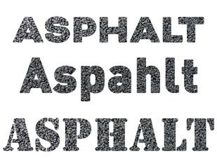 Schriftarten in Asphalt Textur