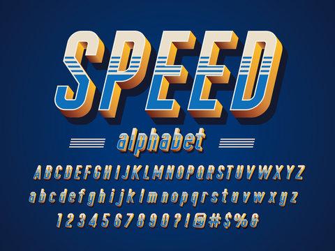 3D vintage styled alphabet design