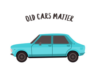 Old retro car from 80s.