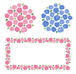 Roses decoration frame set