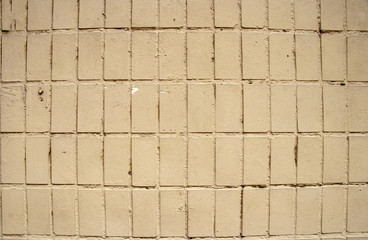 concept of old brick wall in the street