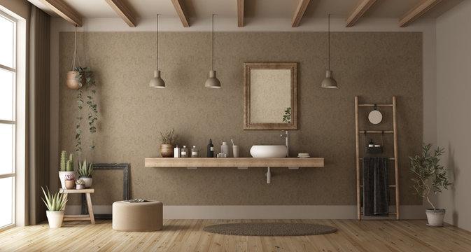 Minimalist bathroom with washbasin