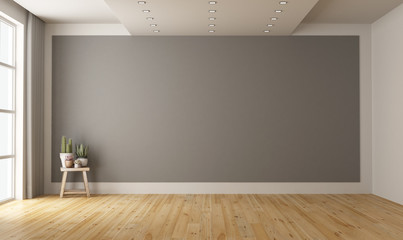 Empty minimalist room with gray wall on background Wall mural