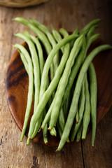 Raw green beans