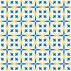 Vintage seamless pattern in Portugal style. Azulejo