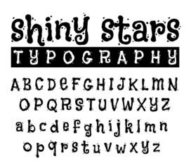 Shiny Stars Swirly font