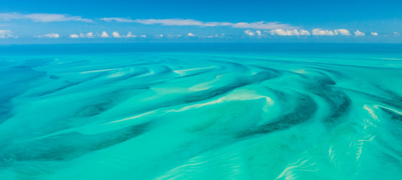 Aerial view, Eleuthera, Bahamas, America
