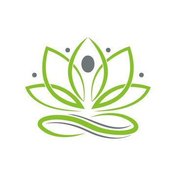 Yoga Logo design of a person meditating.