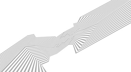 black and white wavy striped background op art