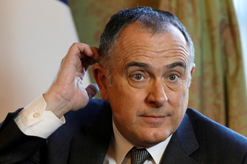 French Agriculture Minister Didier Guillaume attends an interview with Reuters in Paris