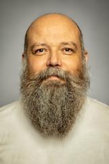 senior man with a gray long beard