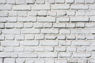 Whitewashed brick wall. Abstract background