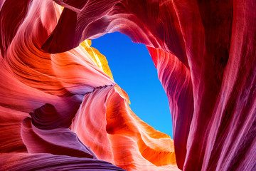 Foto op Plexiglas Antilope Antelope Canyon in the Navajo Reservation near Page, Arizona USA