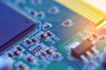 computer board, microcircuit,  fragment, macro