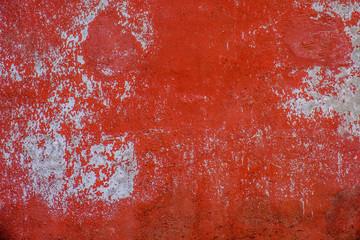 Pittura scrostata su muro