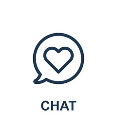 Love Chat Vector Icon Eps10