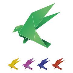 Origami bird vector illustration