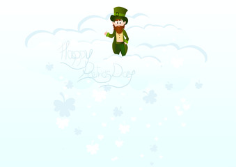 Cute cartoon leprechaun  St. Patrick's Day illustration for your design