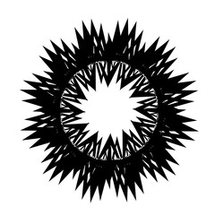 Tattoo designs. Abstract black sun on a white background