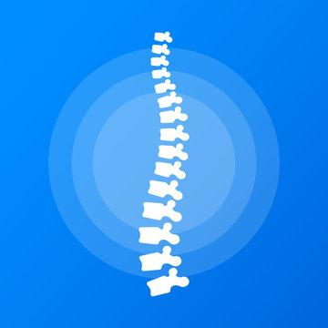 Spine diagnostics symbol logo template. Vector illustration.