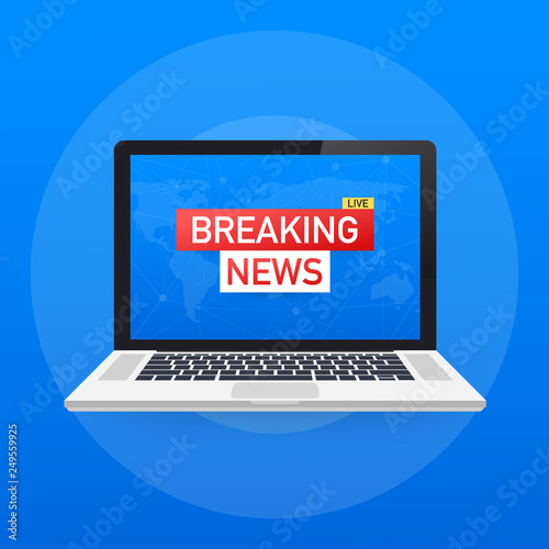 Breaking News Live on World Map Background  News background