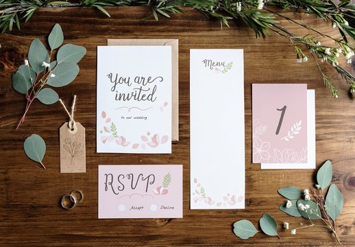 Wedding Invitation Mockup Set