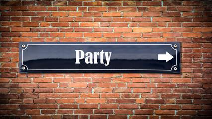 Schild 404 - Party