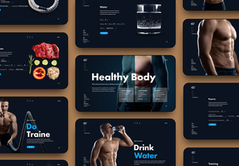 Fitness Website Layout