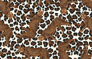 Seamless cheetah pattern