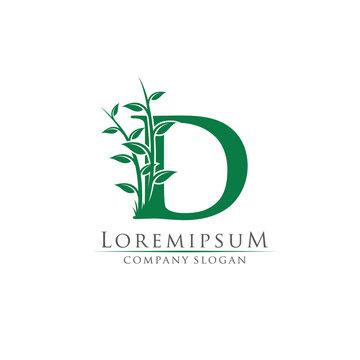 Green Bamboo D Letter logo