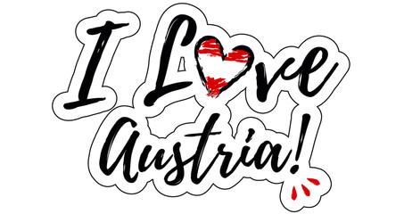 I love Austria Illustration with heart