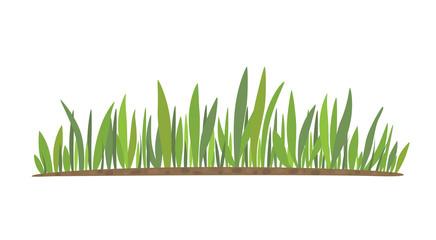 Vector green grass natural, organic, bio, eco label and shape