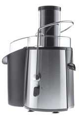 Electric juice extractor isolated on the white background, cut out.
