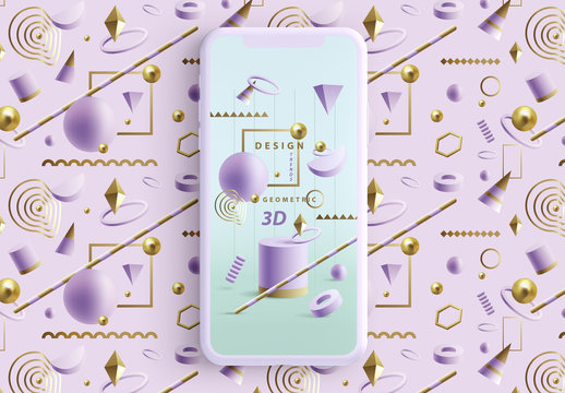 Social Media Story Layouts with Purple Geometric Shapes