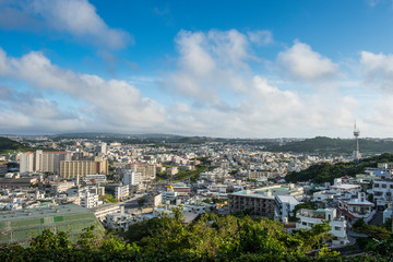 Japan, Okinawa, View over Naha
