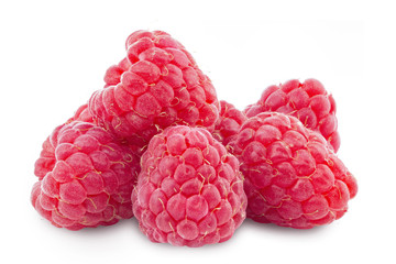 fresh raspberry clipping path