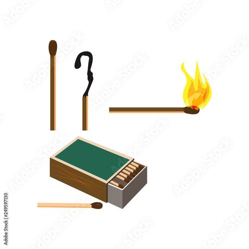 Matches box illustration