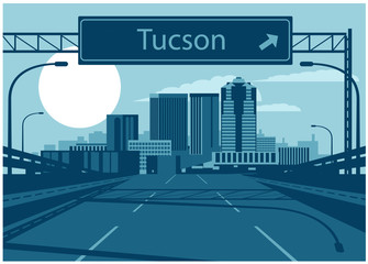 Fototapete - Tucson Arizona Skyline