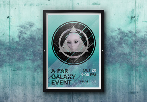 Sci-Fi Style Poster Layout
