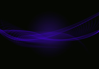 Abstract black background with blue dynamic lines