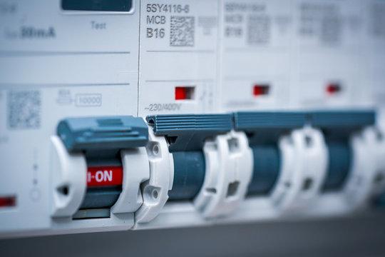 Elektrische Sicherungen in einer Unterverteilung