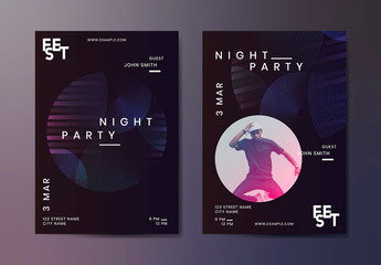 Night Party Music Poster Layout