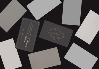 Black and Gold Business Card Layout